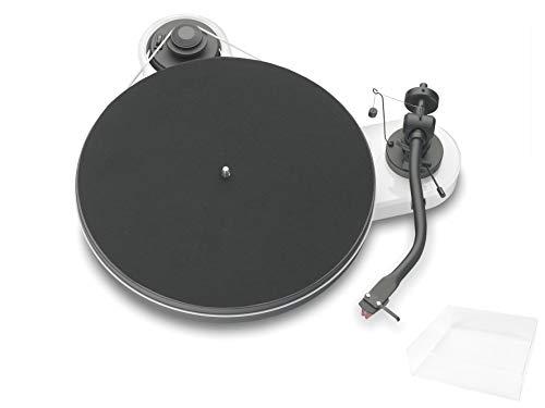 Pro-Ject RPM 1.3 Genie, Audiophiler Plattenspieler mit 2M Red und Abdeckhaube, Weiß