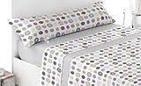 Energy Colors Textil - Hogar - Poland - Juego Sábanas Térmicas Tipo Pirineo Polar 3 Piezas Invierno Otoño (Sahara Beige 120 gr, 150_x_200_cm)