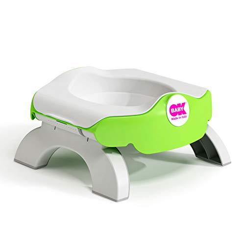 OKBABY Roady - Vasino e Riduttore WC per Bambini Pieghevole, si Usa anche in Viaggio - Verde