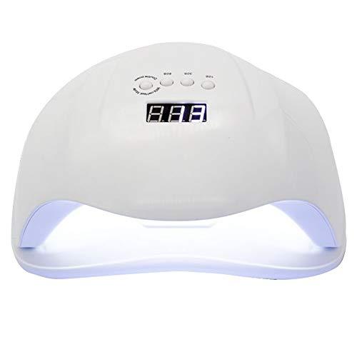 54W Nail Lamp UV LED Nail Dryer Nail Gel Polish Machine De Durcissement Profession Outils De Manucure avec Capteur Intelligent Et 4 Minuteries Cadeau (Couleur : Blanc)