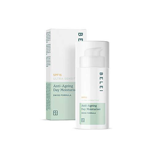 Amazon-Marke: Belei – Ultra sensible, feuchtigkeitsspendende Anti-Ageing-Tagescreme mit LSF 15, 50 ml