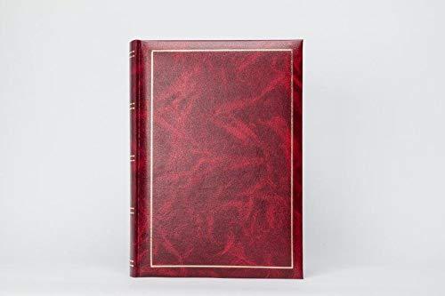 Leder Look Luxus Buchgebundenes Fotoalbum selbstklebend, für bis zu 144Fotos rot