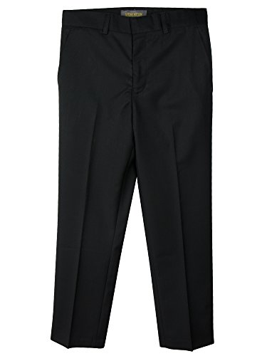 Spring Notion Boys' Flat Front Dress Pants 3T Black