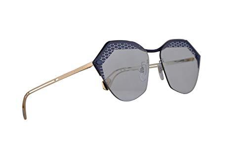 Bulgari Gafas de sol BV6109 Mate tejanos en el oro pálido w/azul claro de la lente de 62 mm 205172 BV 6109 mujer Mate pantalones vaqueros azules en oro pálido Grande