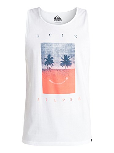 Quiksilver Classic Sad Is Better - Camiseta sin mangas para hombre blanco XS