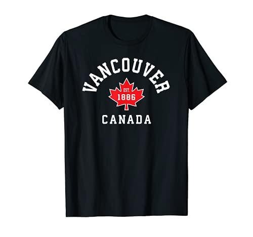 Vancouver Kanada T-Shirt Kanadische Flagge Ahornblatt Geschenk Tee T