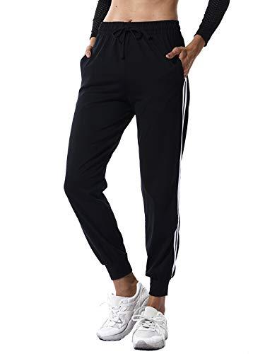 SEASUM Pantaloni Sportivi da Donna Jogging Fitness Moda Lunghi Nero Taglia M