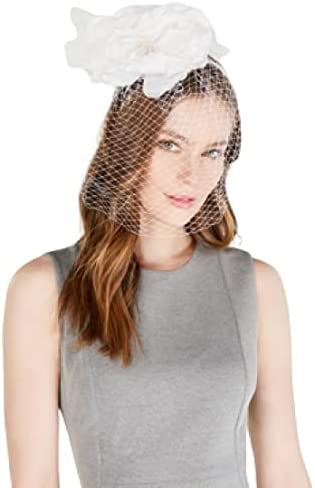 August Inventory cleanup selling sale Hats Limited Special Price Flower Netting Fascinator - White