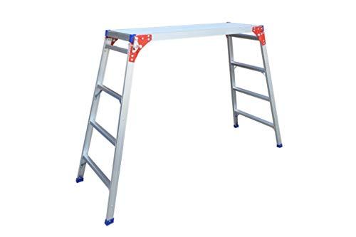 Driestaps Ladder, Vier-staps Aluminium Ladder Metaal Thuis Jobs Platform/Fotografie Platform Ladder/Grote belasting 330 Lbs GZ30120