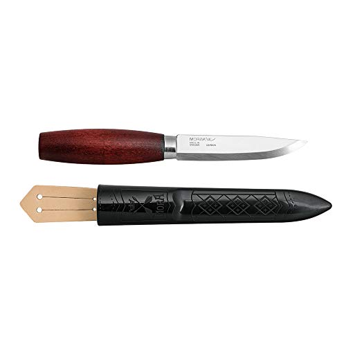 Morakniv Classic No. 2 Fixed Blade, Carbon Steel Knife, Red Birch Wood Handle