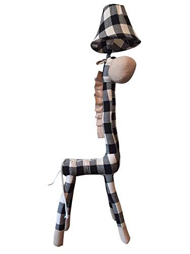 XL Stehlampe Giraffe 116 x 30 cm Stehleuchte Kinderzimmer schwarz/weiß Cartoon niedliche Tiere Kuscheltier und Lampe in einem. Kinder Leuchte Weihnachtsgeschenk für Kinder