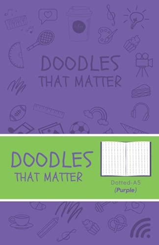 Doodles That Matter A5 Dotted Journal (Purple): Libreta de Puntos, Diario Punteado, Diari de puntos A5 de Doodles That Matter, Cuaderno Bullet Journal Dot Grid, Versión icónica