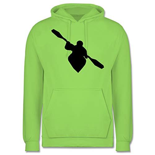 Shirtracer Wassersport - Kajak - XS - Limonengrün - JH001 - Herren Hoodie und Kapuzenpullover für Männer