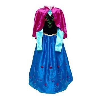 Disney Original Costume Robe Frozen Anna La Reine Des Neiges Cape De Velours Taille 7 8 Annees Amazon Fr Jeux Et Jouets