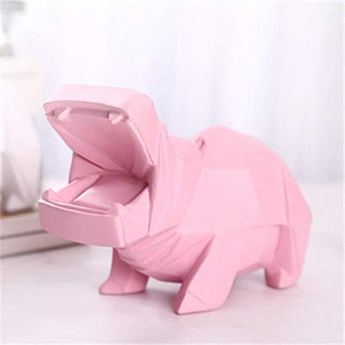 PZAIQ Objets De Décoration Décoration Géométrie Hippopotame Tirelire Simulation Animal Tirelire Enfants Cadeau d'anniversaire