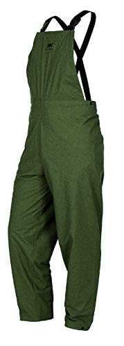 Helly Hansen Workwear Men's Impertech Rain and Fishing Bib Pant, Green Brown - X-Small
