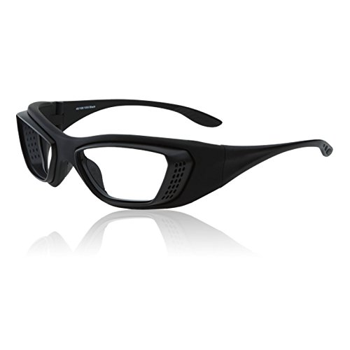 Leaded Eyewear with Case and Strap Paladin Protection Fitover Charcoal Grey X-Ray Radiation Protection Glasses