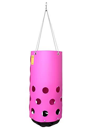 HeuToy - Pink (Bausatz) Futtersack, Heutasche, Heunetz, Staub- und Fressbremse, gesundes Füttern, Tonne für Heu in Pink
