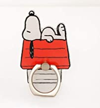 Peanuts Snoopy Metal Cell Phone Ring Holder, Finger Grip, 360 Rotation Stand Holder, Compatible with iPhone Xs Max XR X 8 7 6 6s Plus, Samsung Galaxy S10 S9 S8 Plus S7 S6, Tablet PC and Smartphone fo