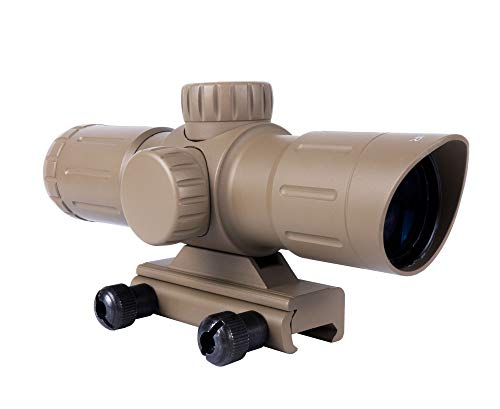 Monstrum Tactical 3x30 Ultra-Compact Rifle Scope with Illuminated Range Finder Reticle (Black)