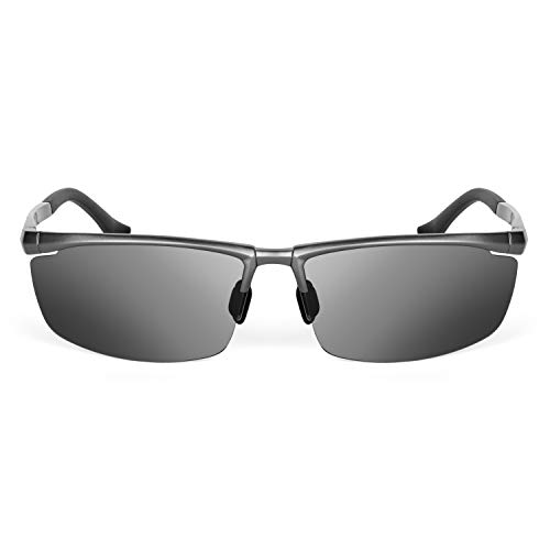 XXL Extra Large Polarized Sports Mens Driving Sunglasses oversized 150mm wide metal frame