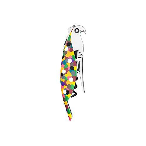 """Alessi """"Parrot"""" Sommelier-Korkenzieher aus Gußaluminium und PC. Handdekoriert, """"Proust"""". Licensed by Pulltaps"""