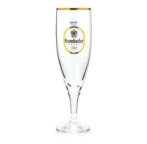 Krombacher Exklusiv 0,25l Pokal Glas/Gläser, Markenglas, Bierglas NEU + anygoods Flaschenausgiesser