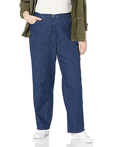 Ruby Rd. Women's Plus-Size Classic 5-Pocket Fly Front Denim Jean, Indigo, 22W