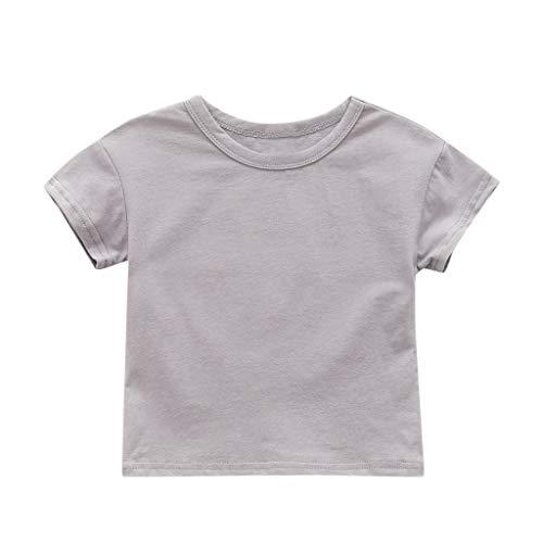 Makalon Sommer Kleinkind Jungen Mädchen T-Shirt Baby Unisex Karikatur Tops Kinder Jungs Freizeit Cartoon Einfarbig Drucken Shirt Baumwolle Hemd Kurzarm Hülsen Tierdruck T-Stücke