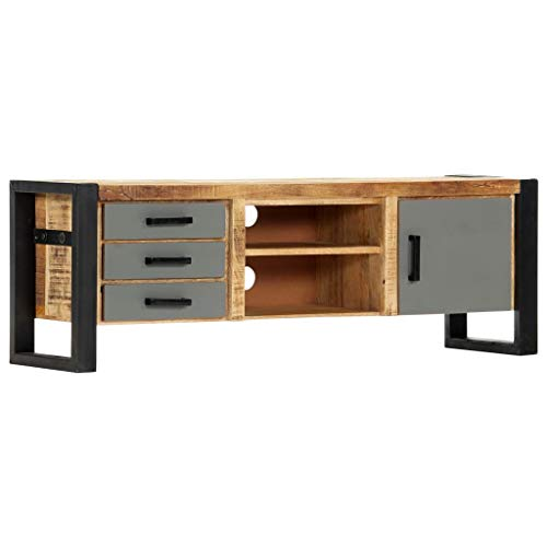 vidaXL Massief Mangohouten Tv-meubel 120x30x40 cm Tv-Kast Televisiemeubel