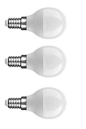 NuLoXx 3er Pack LED Globe Mini G45 7W/840 4000K E14 neutralweiß 550LM AC 220-240V, 180° Abstrahlwinkel