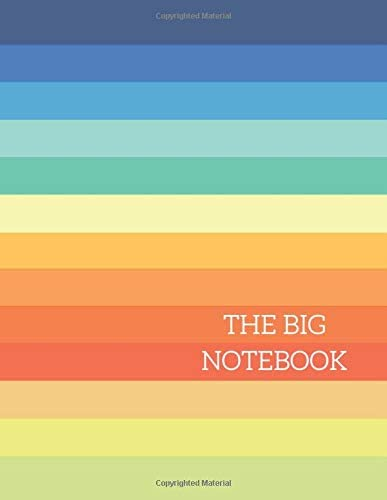 THE BIG NOTEBOOK Vintage Rainbow Composition Notebook Extra Large Notebook 8 5 x 11 590 Lined product image