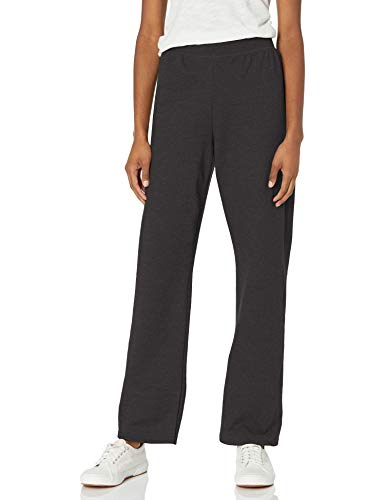 Hanes womens ComfortSoft EcoSmart Women's REGULAR Open Bottom Leg Sweatpants Ebony X-Large