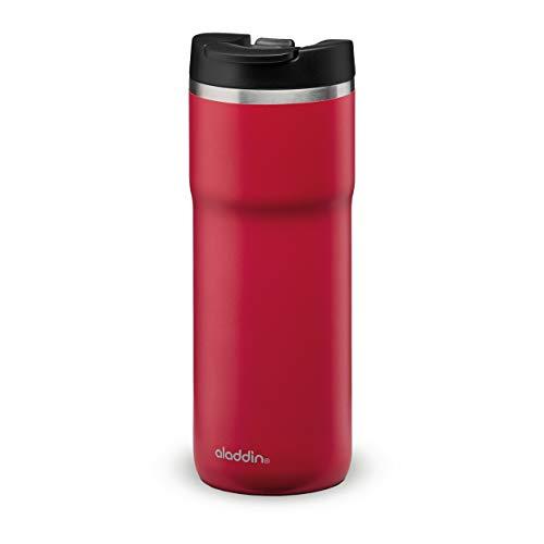 Aladdin Barista Java Thermavac Leak-Lock Stainless Steel Travel Mug 0.47L Cherry Red – Auslaufsicherer Becher - Doppelwandige Vakuumisolierung - Hält 4 Stunden Heiß - BPA-Frei - Spülmaschinenfest