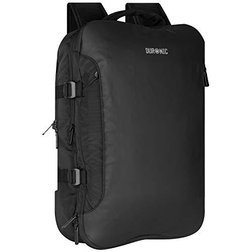 Duronic LB325 zaino da viaggio con tasca per laptop e tablet – 55 x 40 x 20 cm – bagaglio a mano/cabina universale – resistente all'acqua – viaggi, sport, scuola, outdoor, daypack