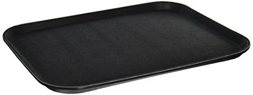 Winco bandeja rectangular de fácil agarre, 14 pulgadas por 18 pulgadas, color negro