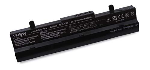 Batterie LI-ION 4400mah 10.8V Noir Compatible pour ASUS remplace AL32-1005, AL31-1005, 90-OA001B9000, 990AAS168288, 0B20-00KA0AS etc.