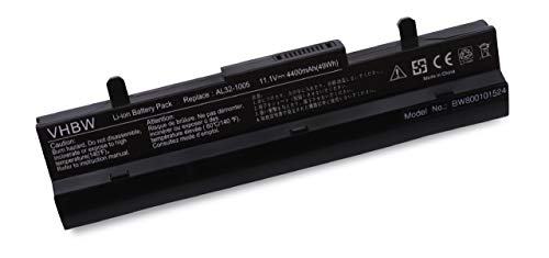 vhbw Akku passend für ASUS Eee PC 1001, 1005, 1101, R101, R105 - Serie Notebook Laptop ersetzt AL32-1005, AL31-1005 - (Li-Ion, 4400mAh, 10.8V)