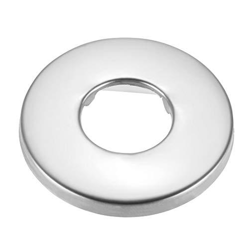 uxcell Runde Rosettenplatte, 48 x 4,5 mm, Edelstahl, poliert, für Rohre mit 21 mm Durchmesser, 3 Stück