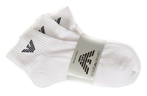 Emporio Armani Pack de 3 pares calcetines esponja dentro artículo 302202 CC195, 00010 Bianco - White, S - size 39/41 - UK 5/7
