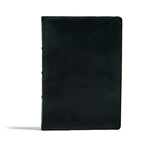 KJV Large Print Ultrathin Reference Bible, Premium Black Genuine Leather, Black Letter Edition