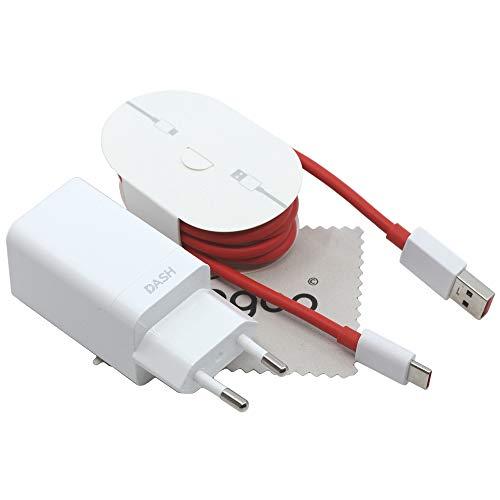 Ladegerät für Original Oneplus DC0504 + D301 Dash Charge 4A für Oneplus 7, 7 Pro, 6T, 6, 5T, 5 Schnell Ladekabel Netzteil mit mungoo Displayputztuch
