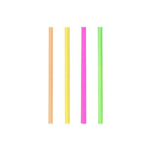 Amira 500 Jumbo Strohhalme 25cm lang Kunststoff extra dick Neon gemischt. strohhalm Plastik.strohhalme Plastik. Plastik strohhalme.strohhalm Plastik Dicke