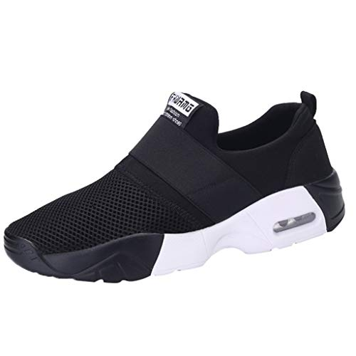 Goddessvan Men's Trail Running Shoes Breathable Fashion Sneakers Youth Big Boys Tennis Cushion Running TravelShoes Black