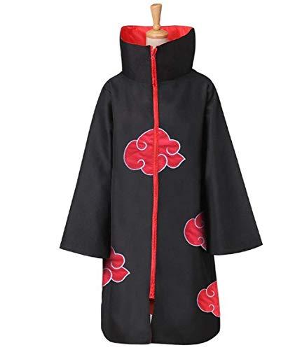 Naruto Akatsuki Umhang Anime Cosplay Kostüm, Halloween Cape Umhänge Itachi Robe Cosplay Anime Kostüm (groß)