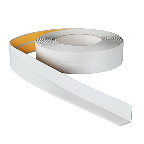 ProfiPVC Perfil Angular Suelo 18x18mm - 5 metros, Rodapié de acabado, ideal para cocina y baño, cinta autoadhesiva de PVC, rodapié flexible y blanda, Gris claro