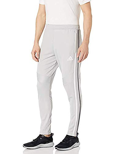adidas Men's Essentials Performance Logo Pants (Light Grey/White/Light Granite, XX-Large)