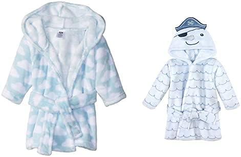 Hudson Baby Max 53% OFF Boy Plush Animal Face Clouds Blue Bathrobe Fashionable N 2-Pack