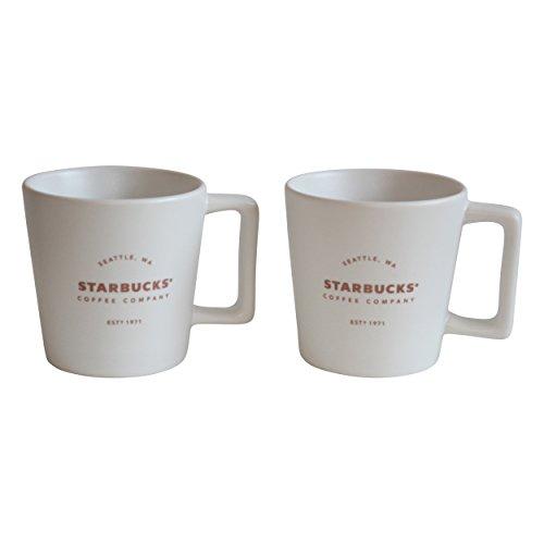 Starbucks Espresso Cup Royal White 1971 EST Mug Espresso Set Demitasse (2)