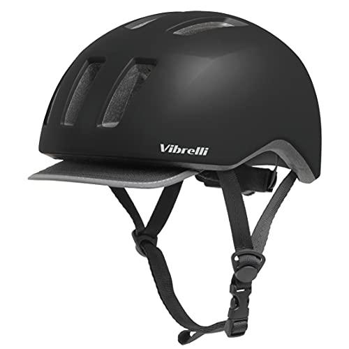Vibrelli Commuter Bike Helmet for Men & Women - Detachable Reflective Visor - Adult Unisex Urban Bicycle Helmet